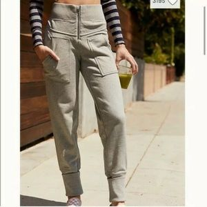 FREE PEOPLE On the Road Sweatpants Gray  M High